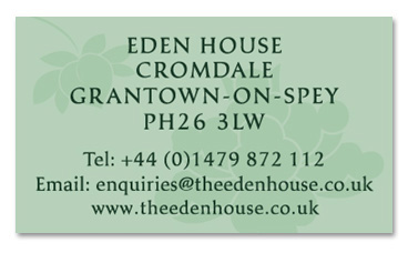 Eden House Business Card - Back