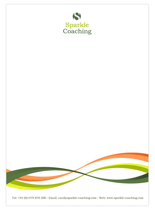 Sparkle Coaching Compliments Letterhead