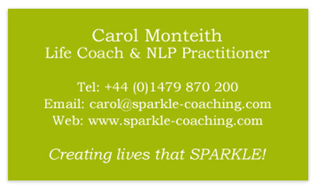 Sparkle Coaching Business Card - Back